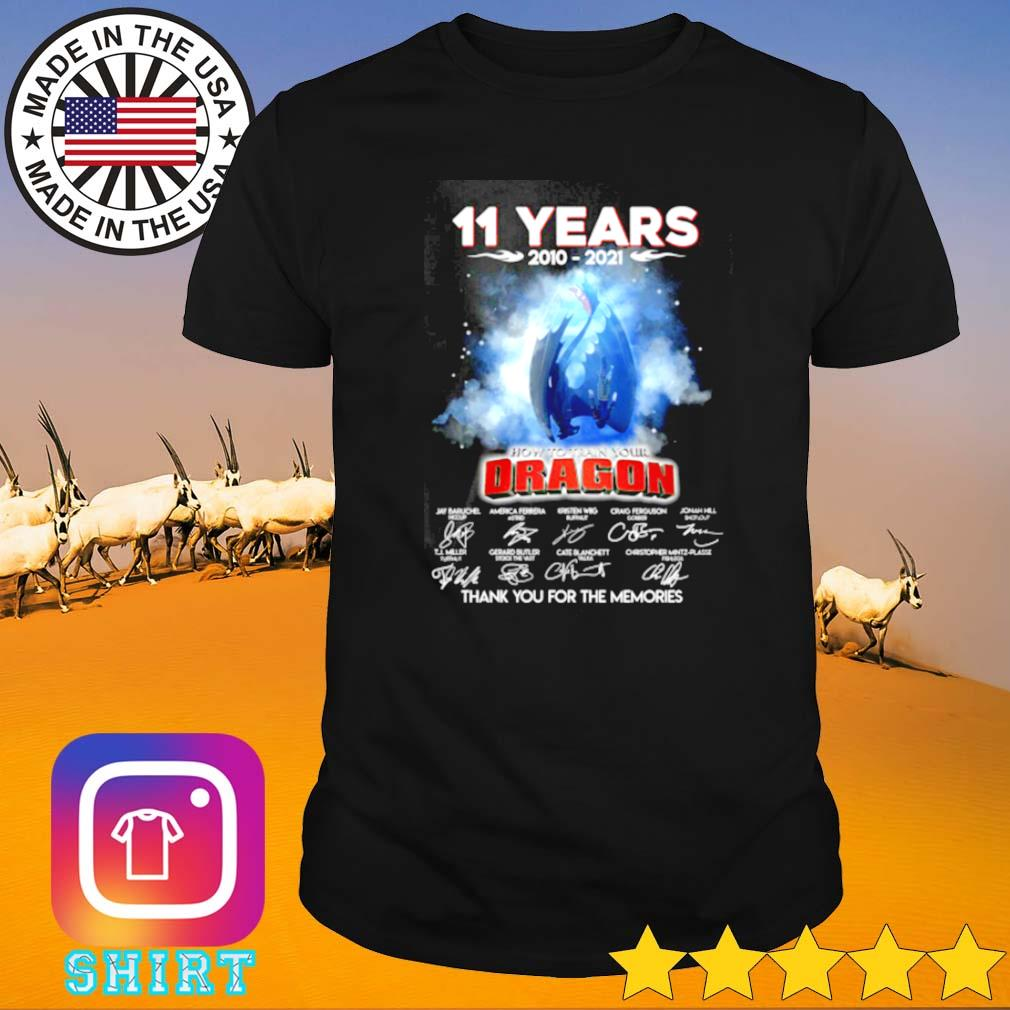 11 Years of how to train your dragon 2010-2021 thank you for the memories shirt