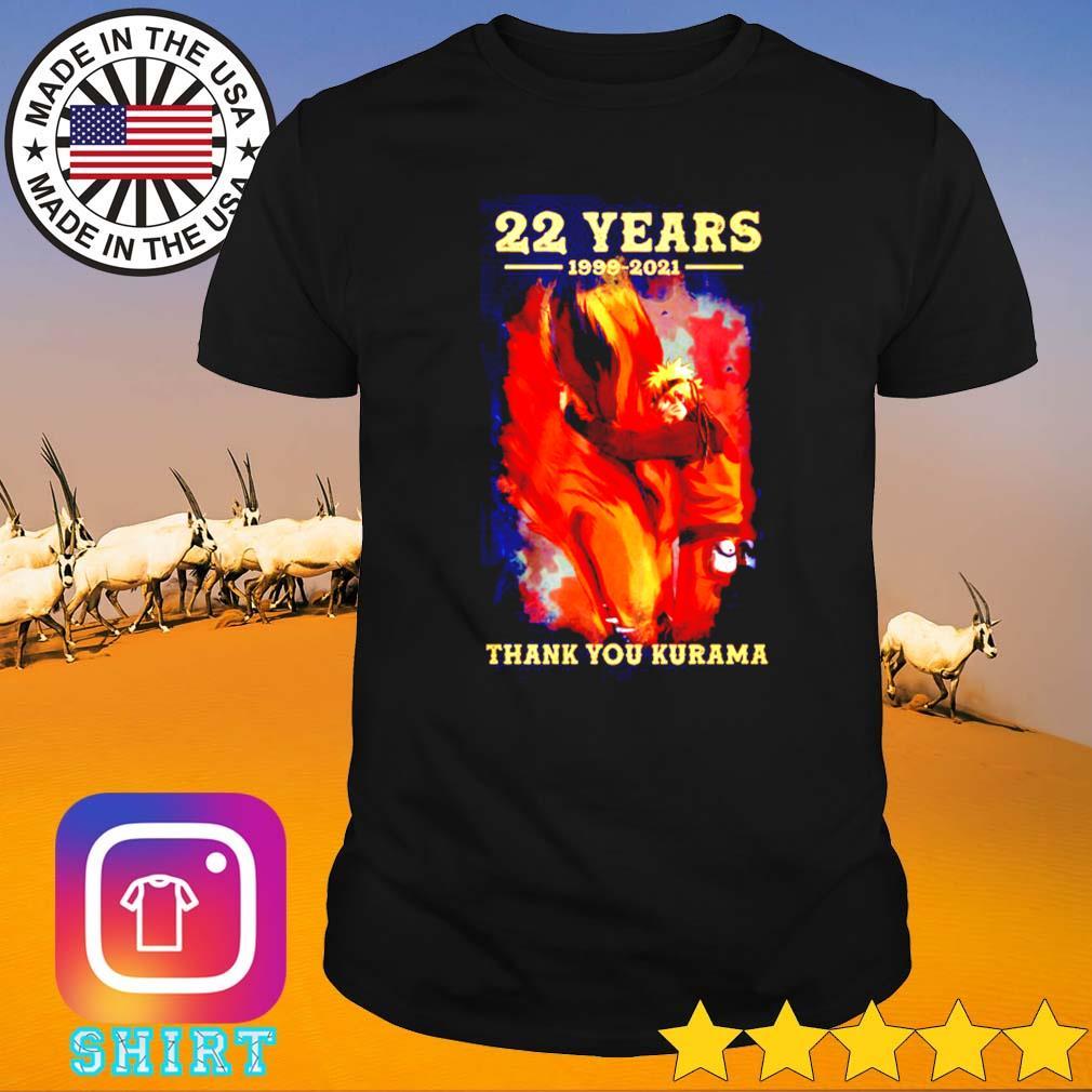 22 Years Naruto 1999-2021 thank you Kurama shirt