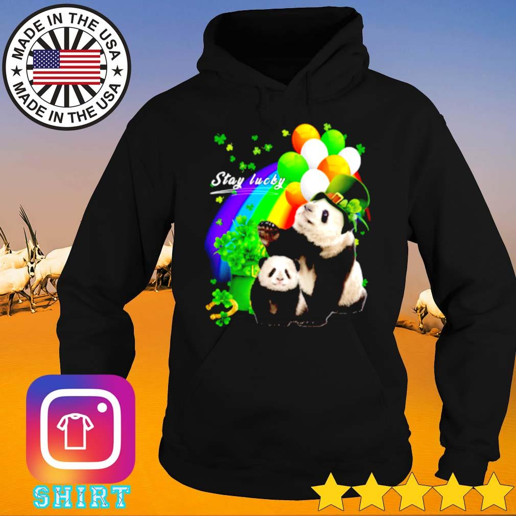 Cute Panda stay lucky St. Patrick_s day s Hoodie