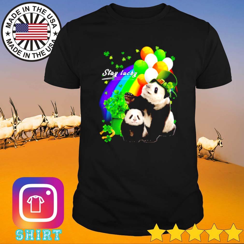 Cute Panda stay lucky St. Patrick_s day shirt