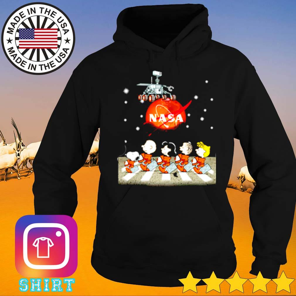Mars nasa snoopy charlie browns with friends abbey road s Hoodie