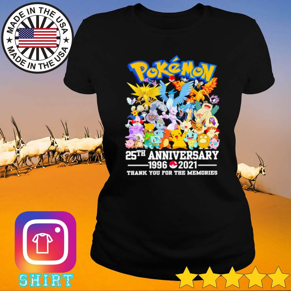 Pokemon 25th anniversary 1996-2021 s Ladies tee