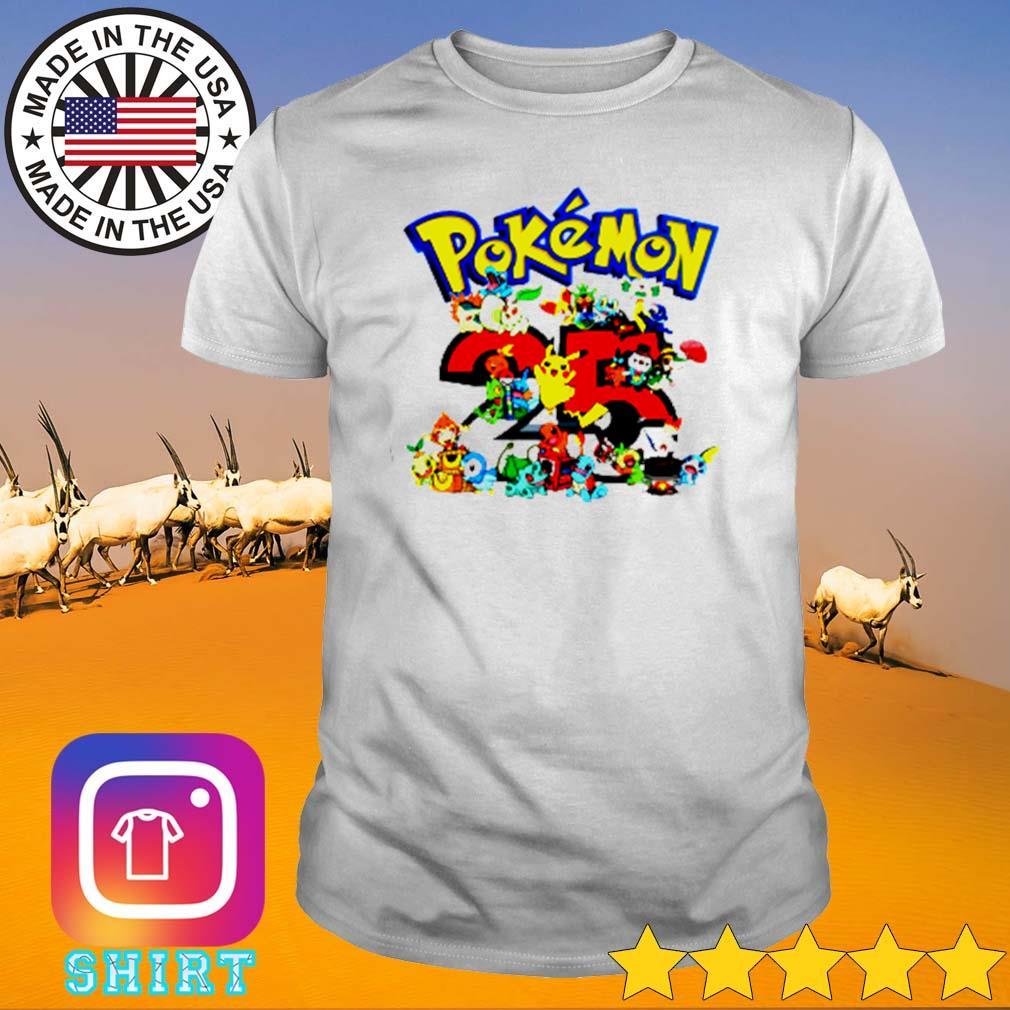 Pokemon cartoon 25th anniversary shirt