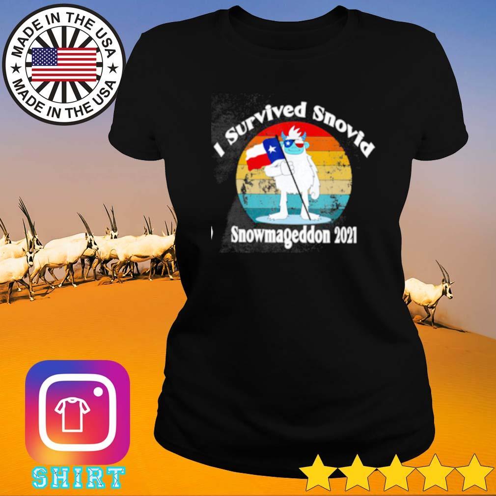 Texas I survived snovid snowmageddon 2021 vintage s Ladies tee
