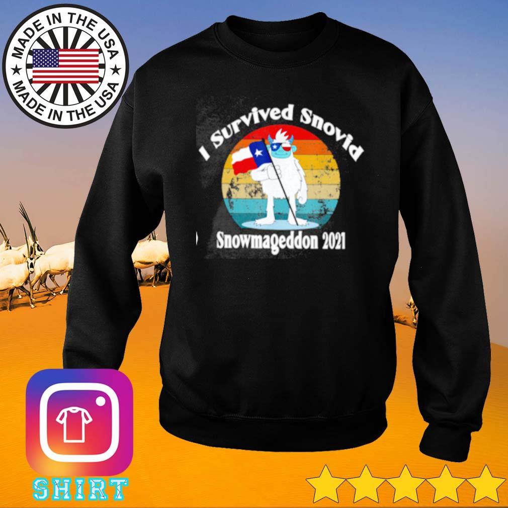 Texas I survived snovid snowmageddon 2021 vintage s Sweater
