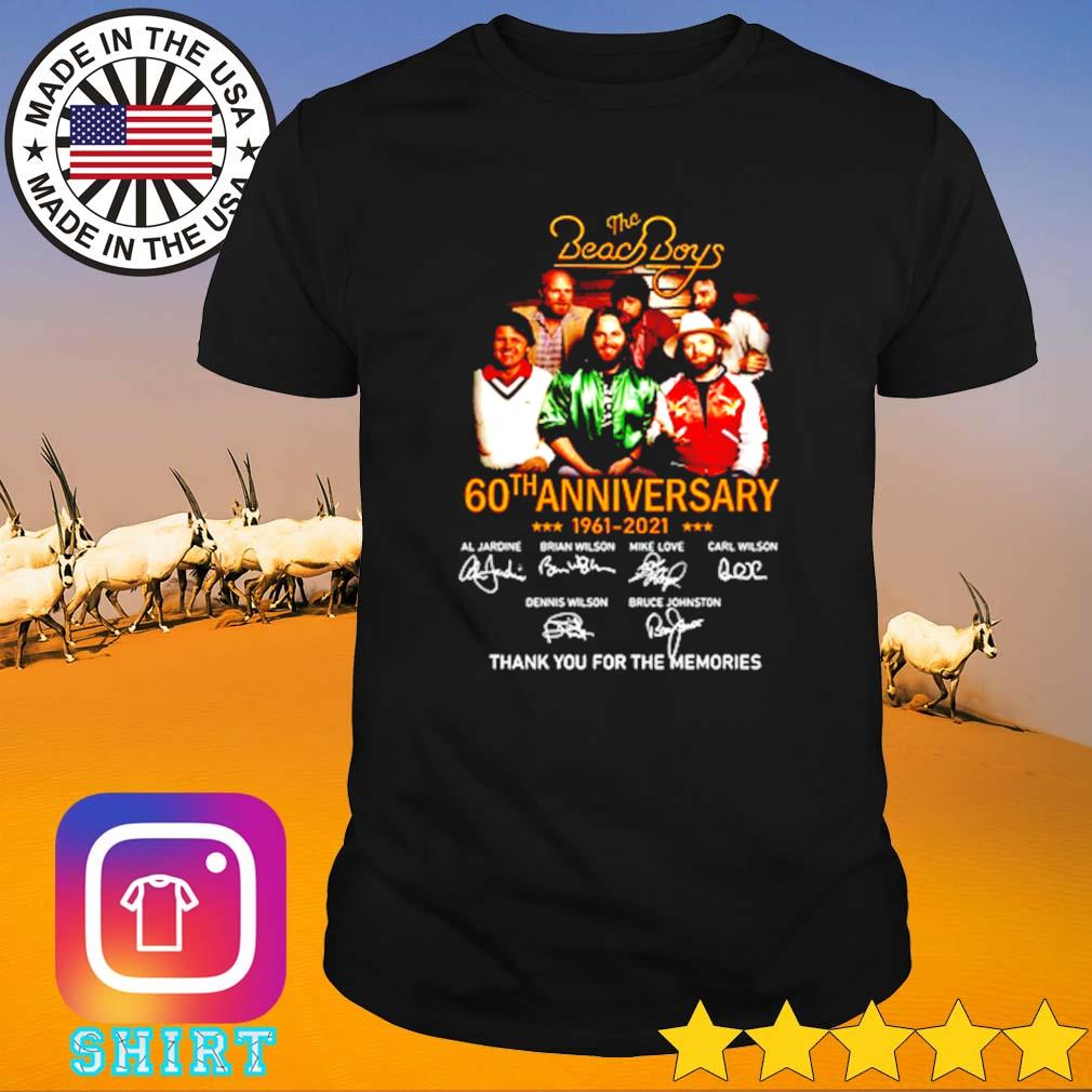 The Beach Boys 60th anniversary 1961-2021 thank you for the memories shirt