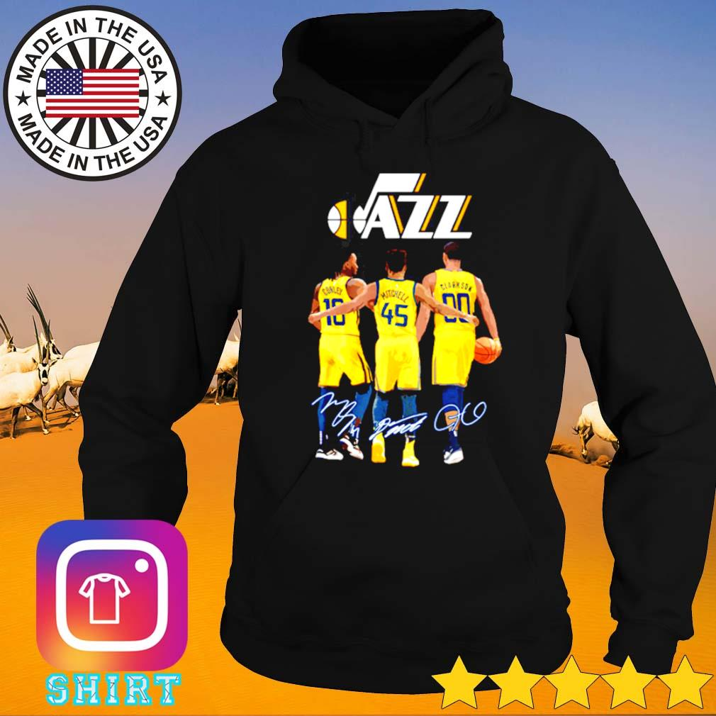 Utah Jazz Conley 10 Mitchell 45 Clarkson 90 signatures s Hoodie