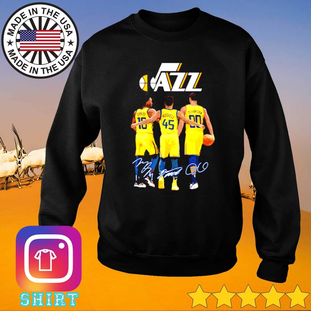 Utah Jazz Conley 10 Mitchell 45 Clarkson 90 signatures s Sweater