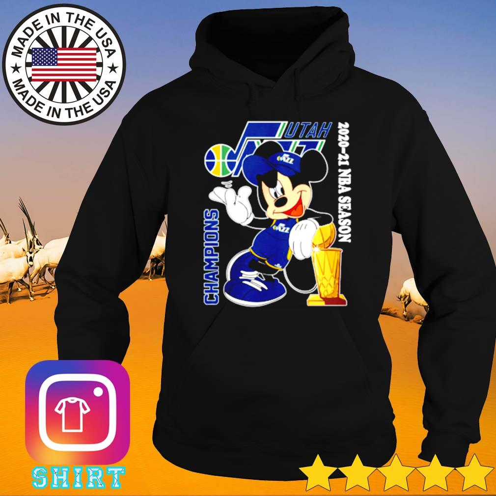 Utah Jazz Mickey Mouse 2020-2021 NBA season champions s Hoodie