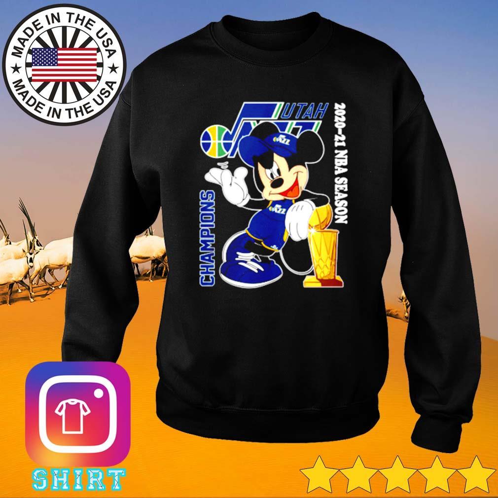 Utah Jazz Mickey Mouse 2020-2021 NBA season champions s Sweater