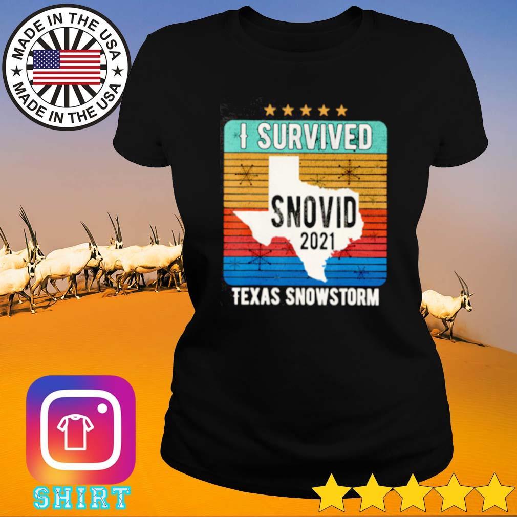 Vintage I survived snovid 2021 Texas snowstorm 14 s Ladies tee