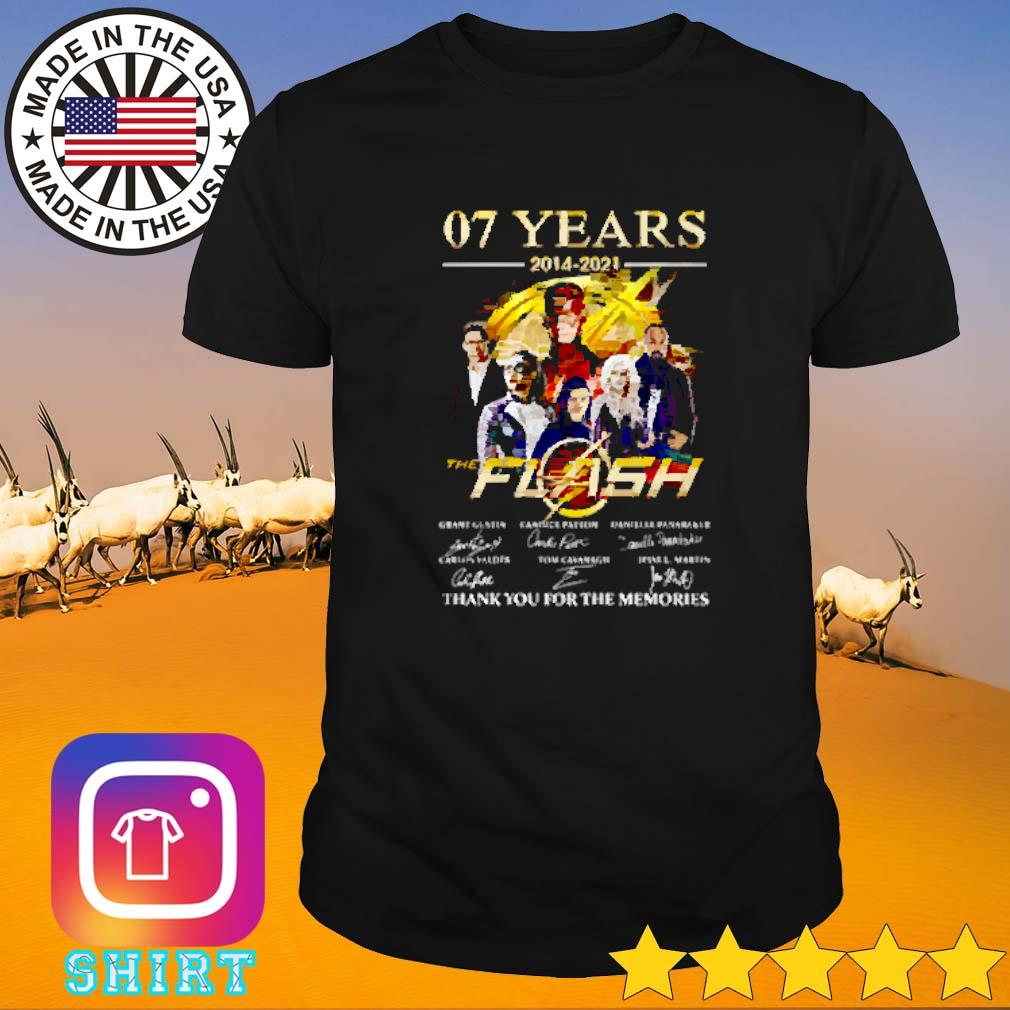 07 Years of the flash 2014-2021 thank you for the memories signature shirt