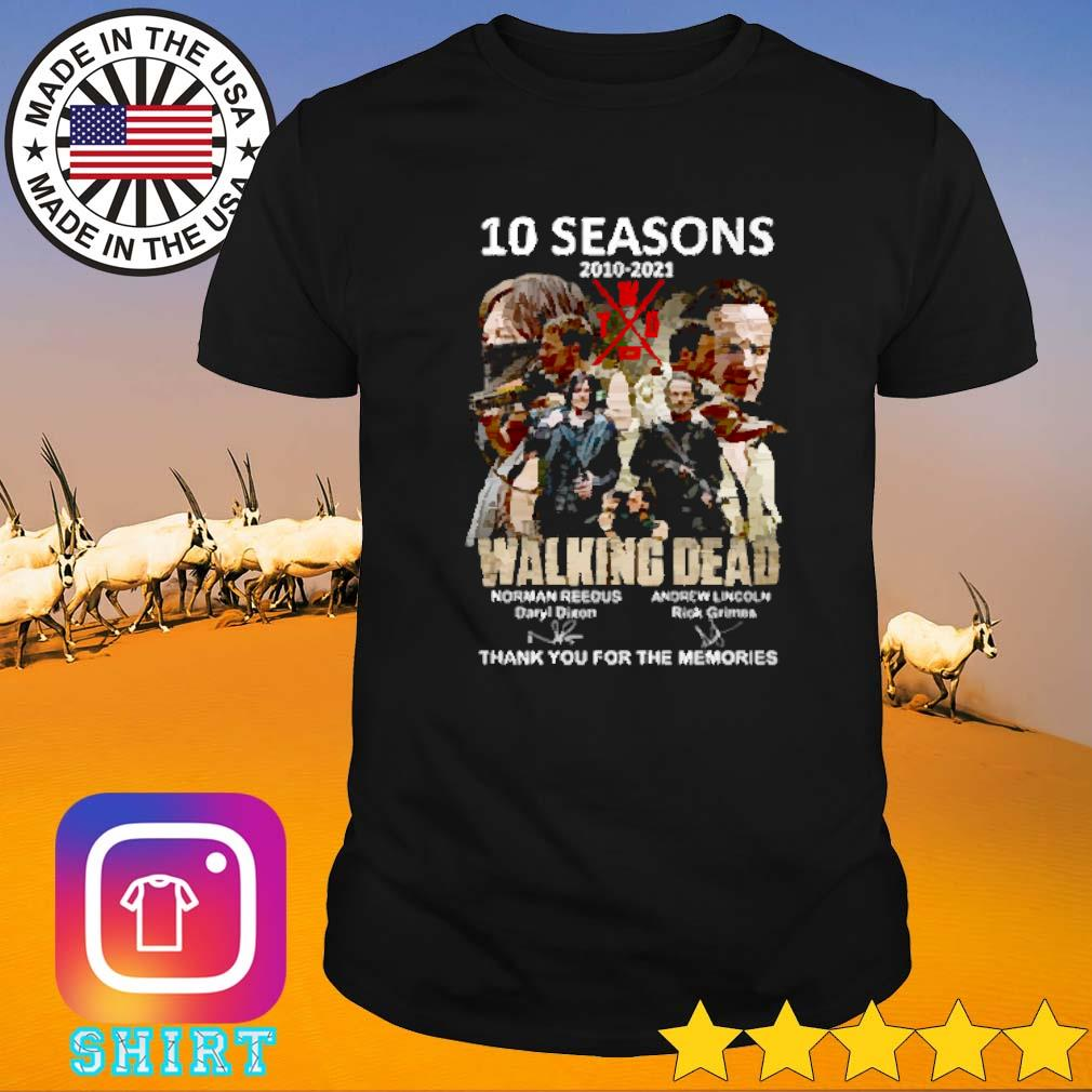 10 Seasons 2010-2021 The walking dead Norman Reedus Andrew Lincoln shirt