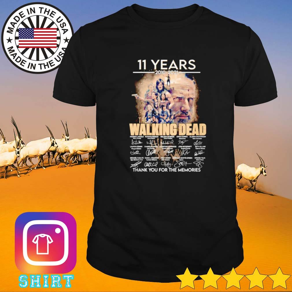11 Years 2010-2021 the walking dead thank you for the memories signature shirt