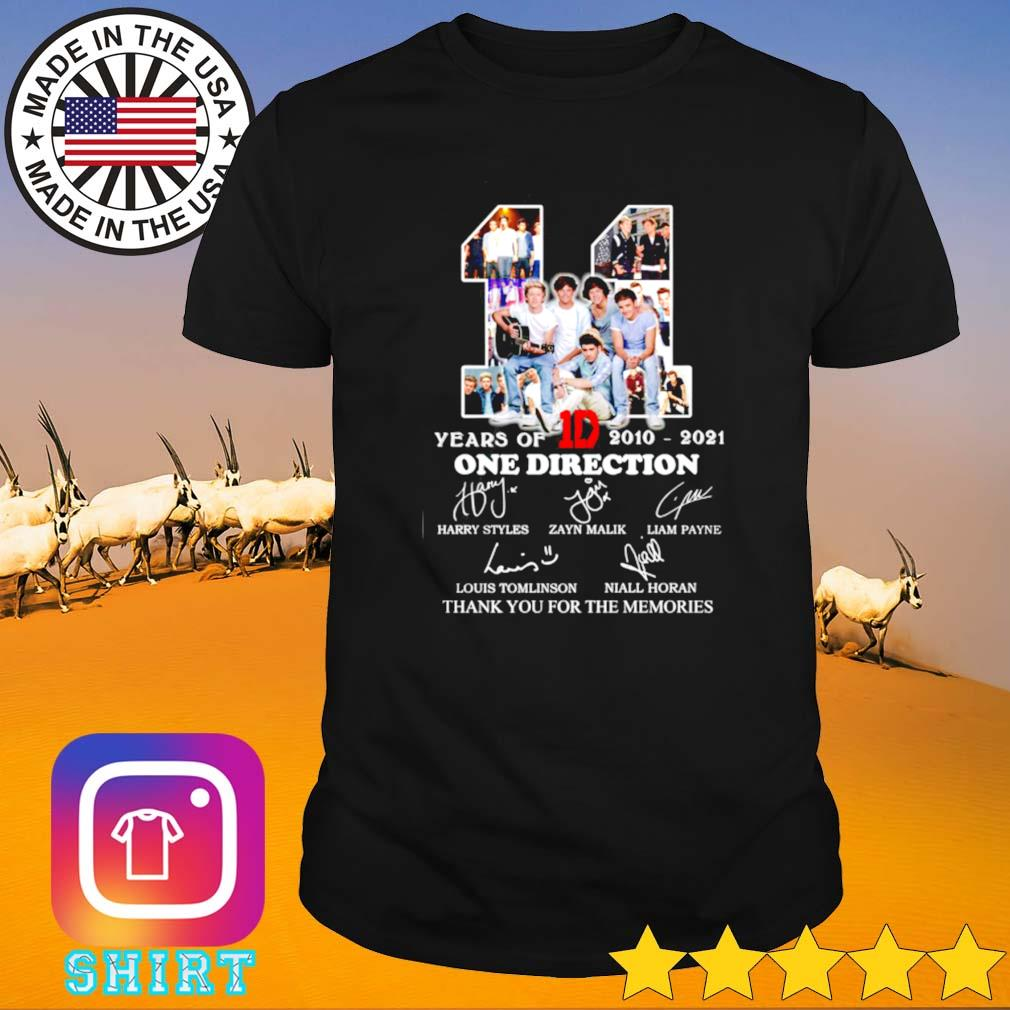 11 Years of 1D One direction 2010-2021 signatures shirt