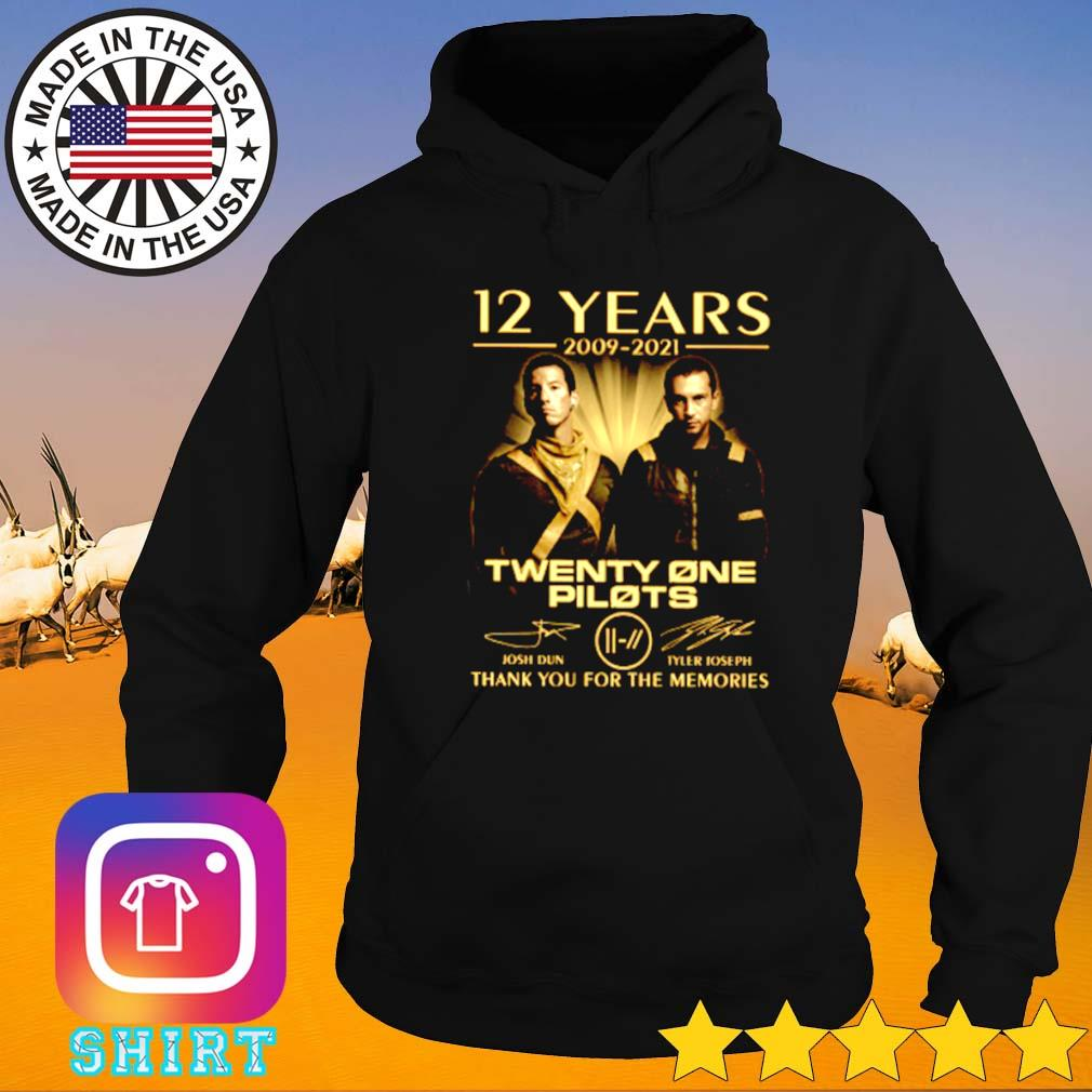 12 Years of Twenty one Pilots 2009-2021 thank you for the memories signature Hoodie