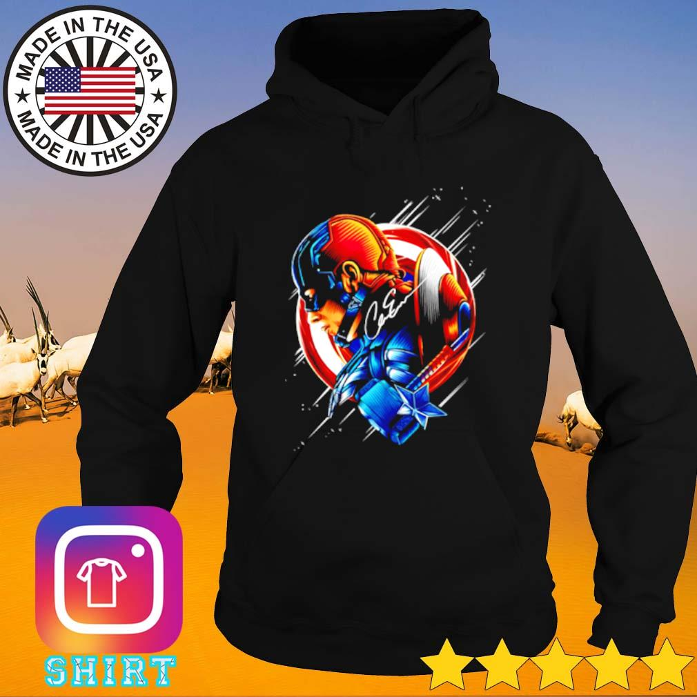 Chris Evans Captain America star light color signature Hoodie