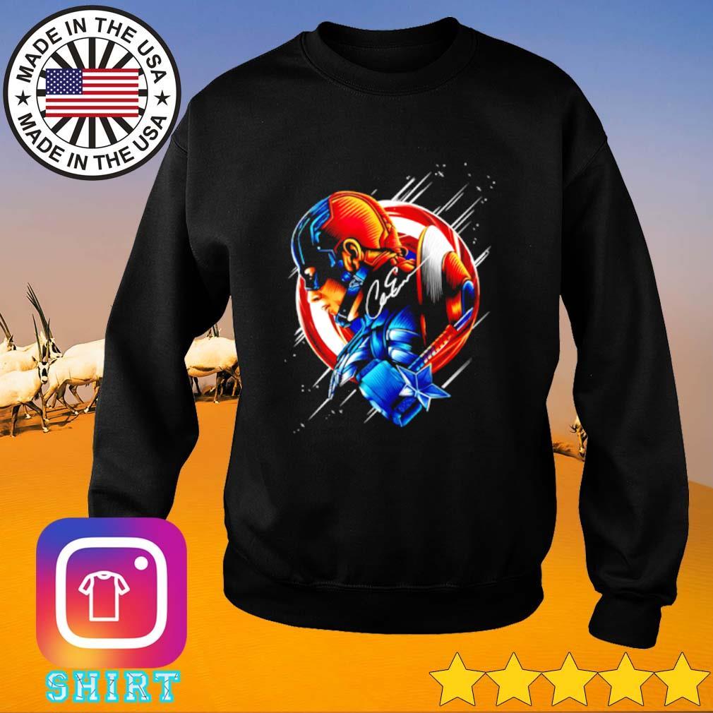 Chris Evans Captain America star light color signature Sweater