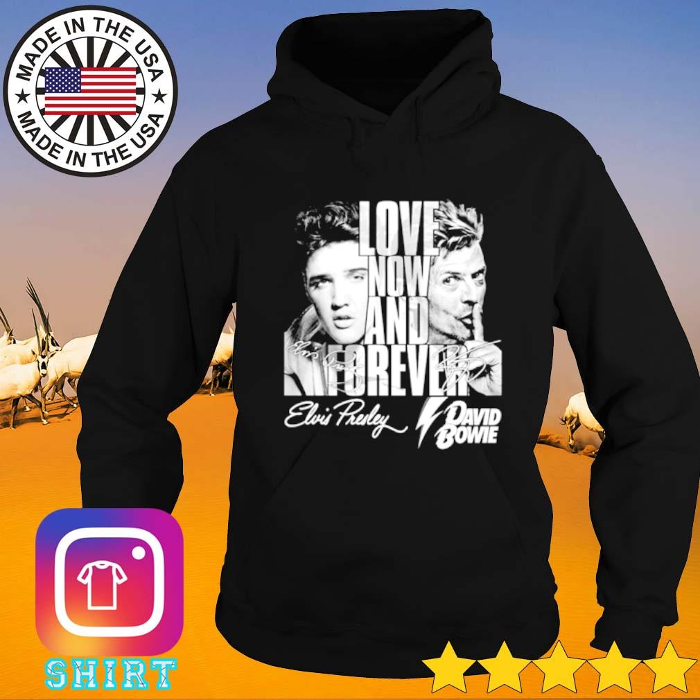 Elvis Presley and David Bowie signature love now and forever Hoodie
