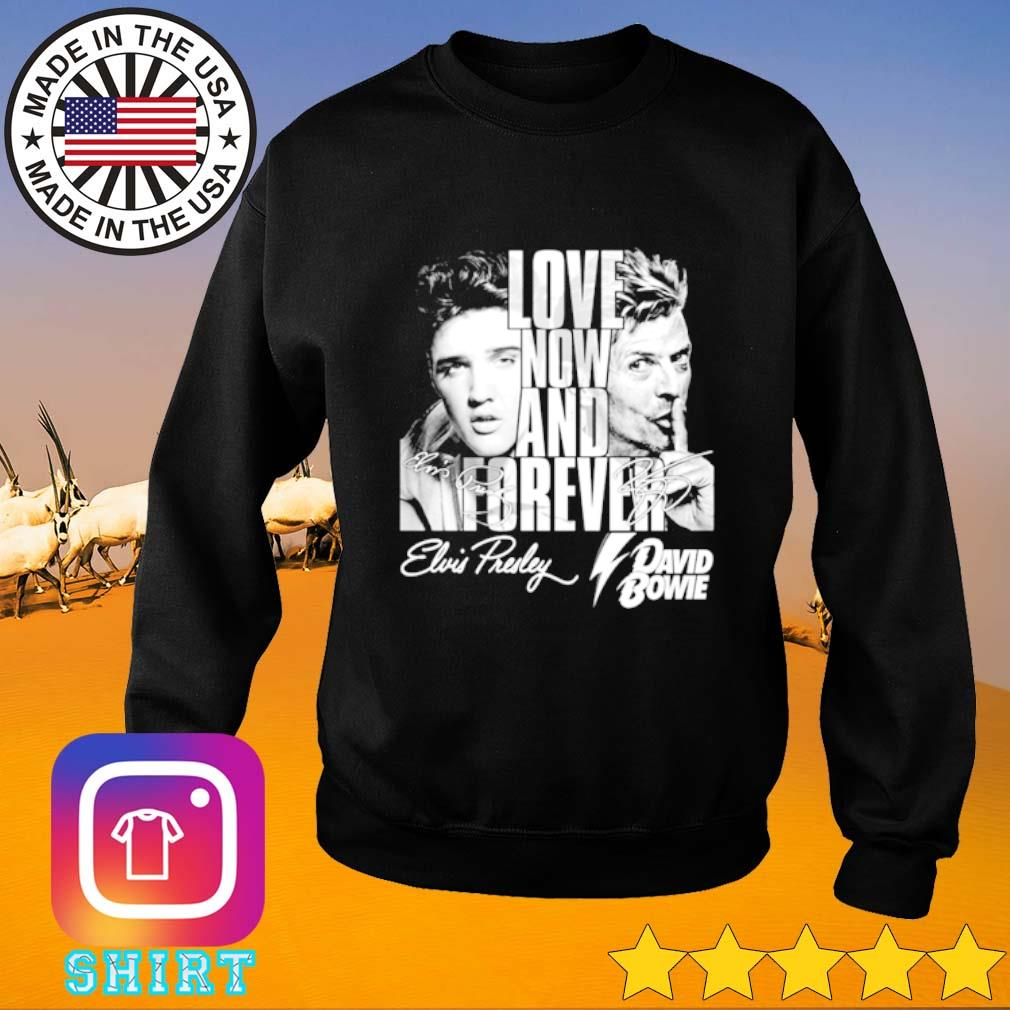 Elvis Presley and David Bowie signature love now and forever Sweater