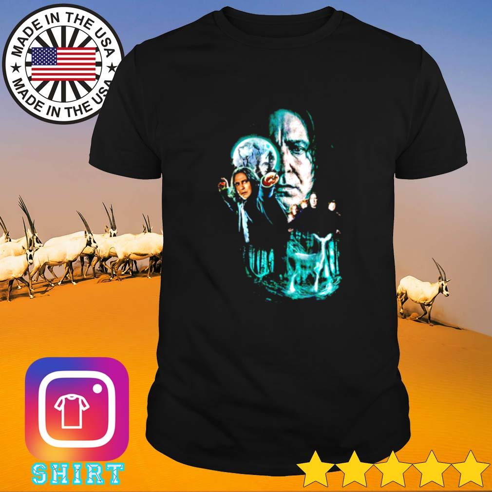 Harry Potter Professor Severus Snape moon and deer light shirt