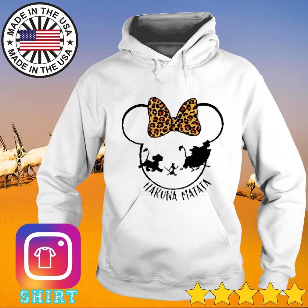 Mickey Disney Hakuna Matata leopard Hoodie