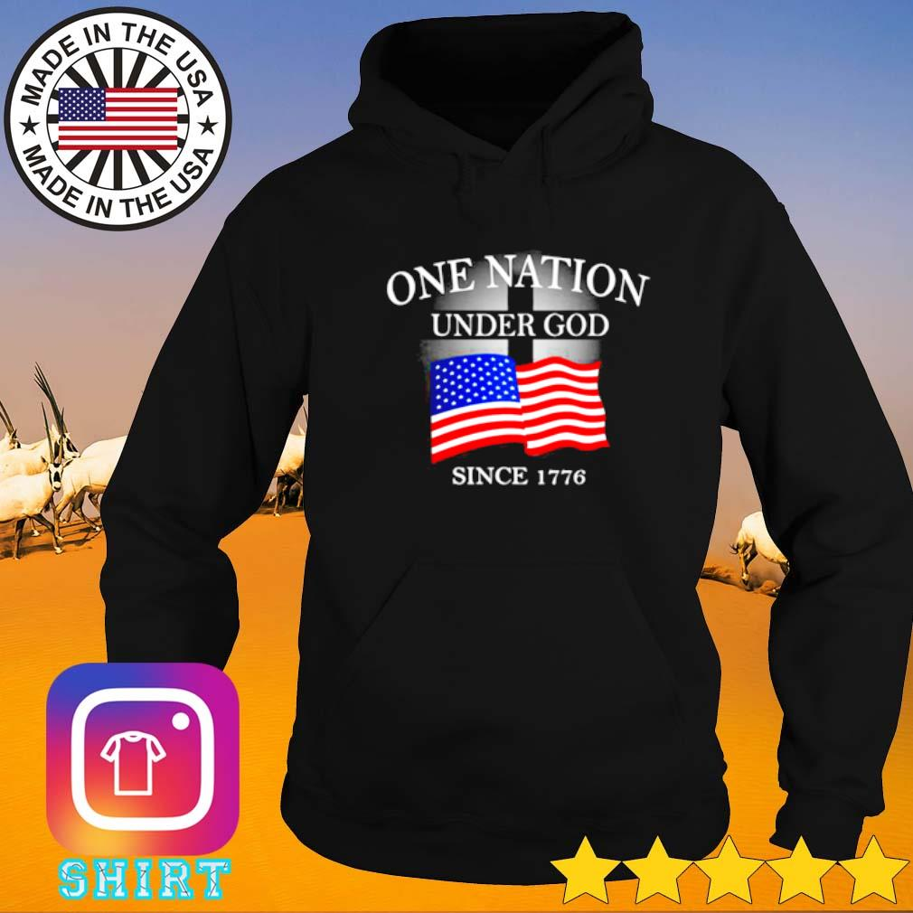 One nation under god since 1776 American flag Hoodie