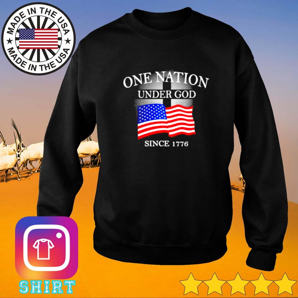 One nation under god since 1776 American flag Sweater