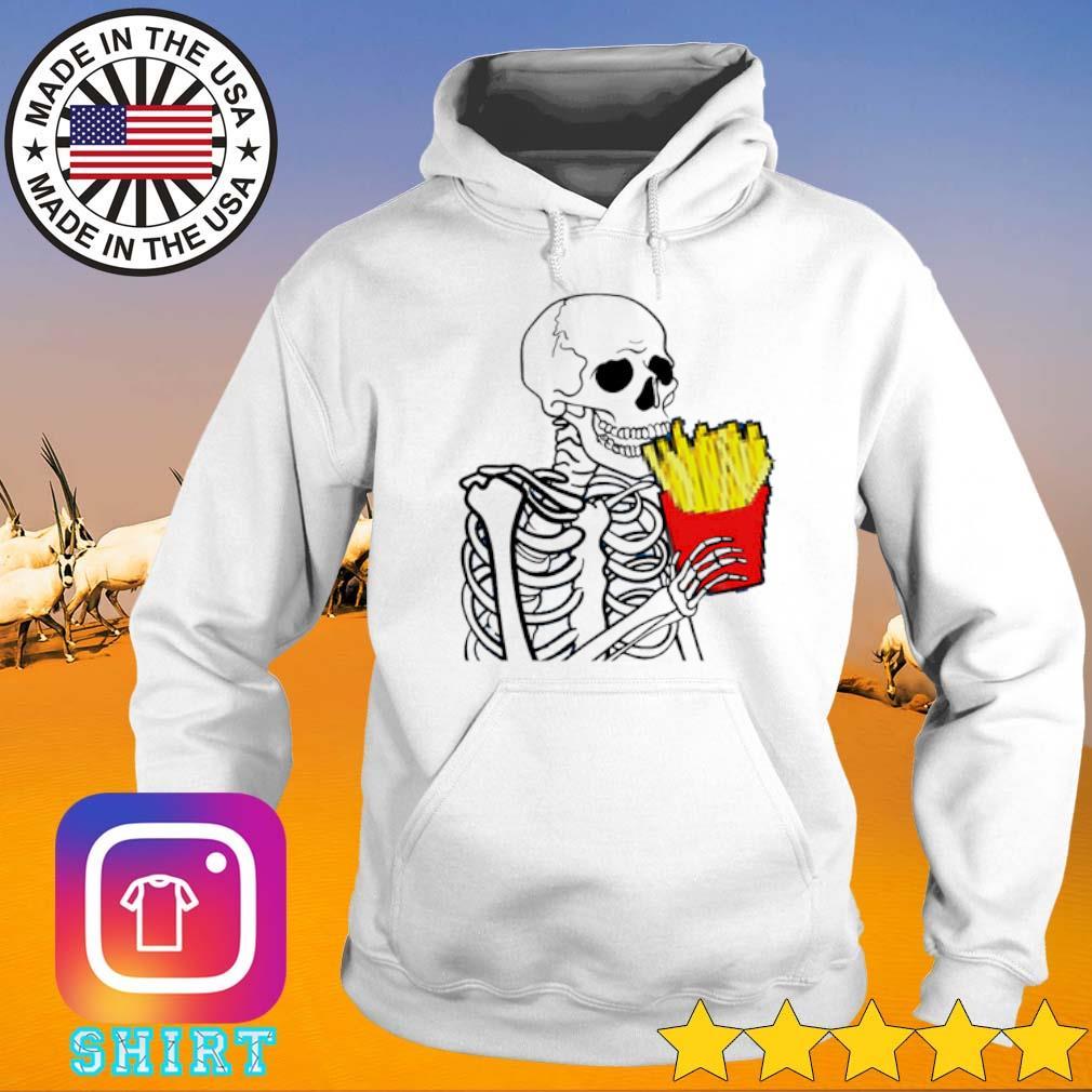 Skeleton 7 French Fries Hoodie