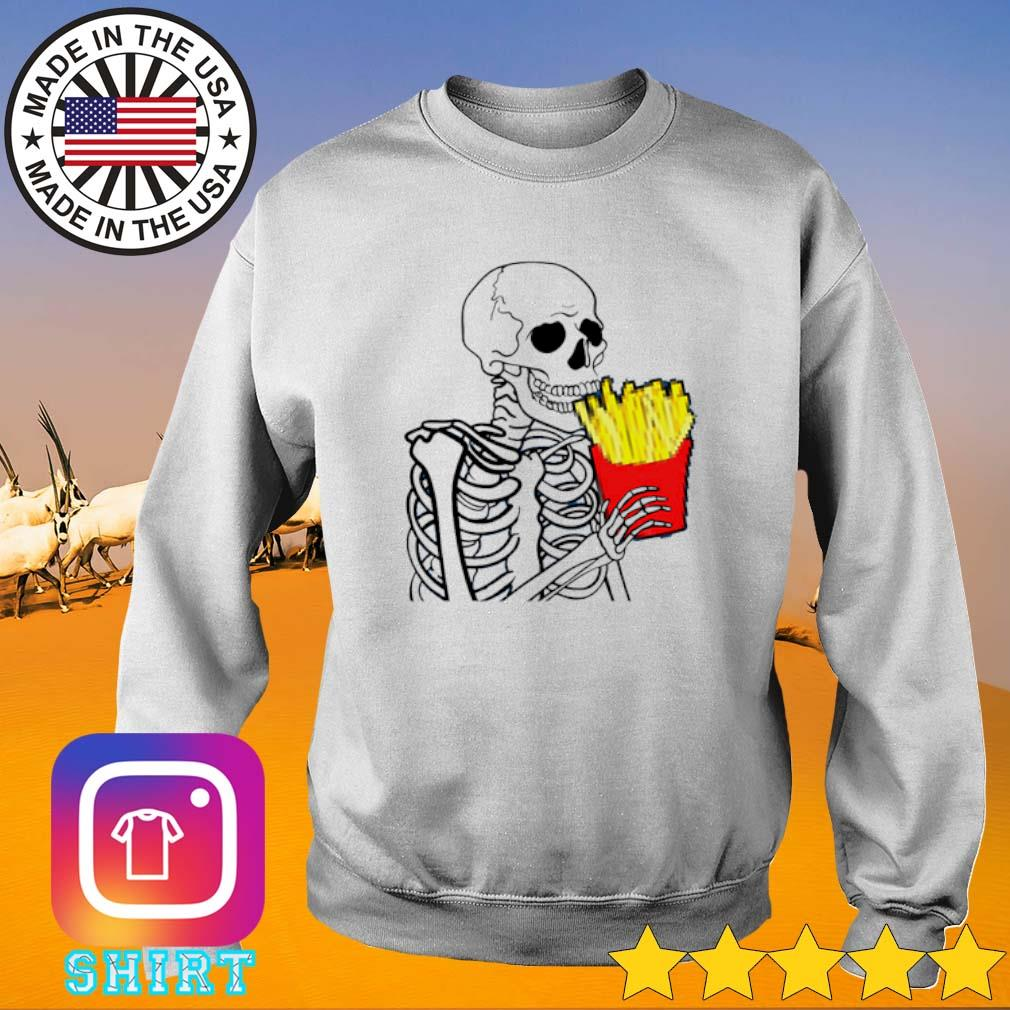 Skeleton 7 French Fries Sweater