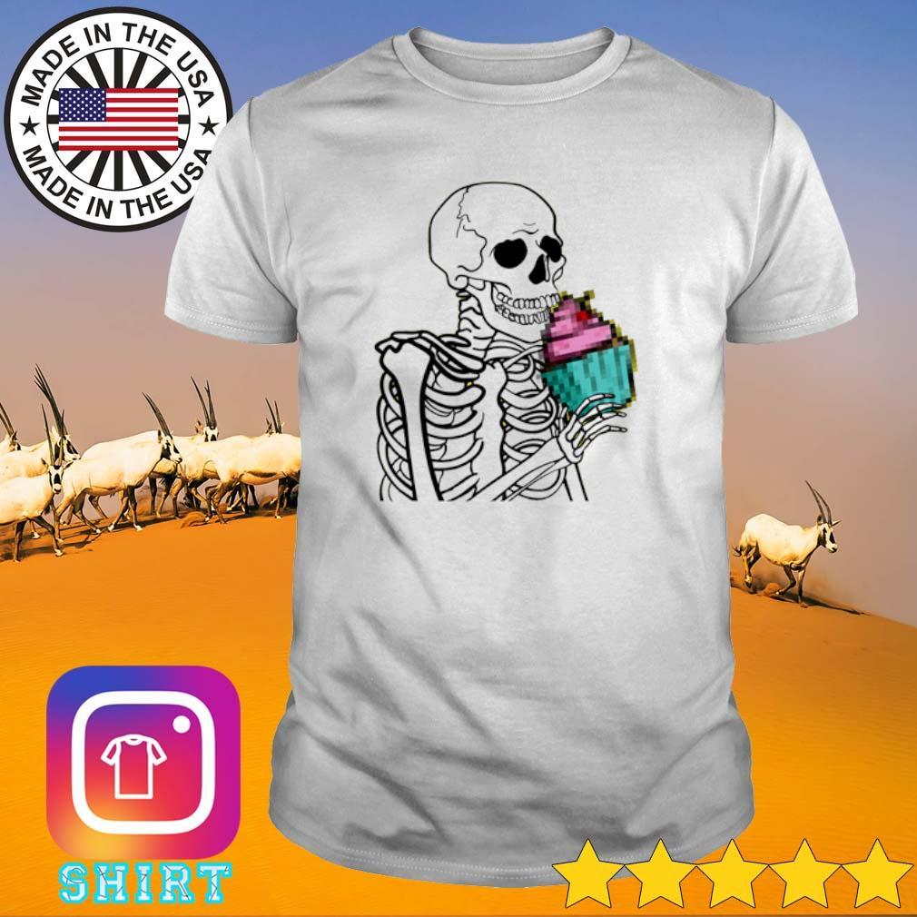 Skeleton cupcake shirt