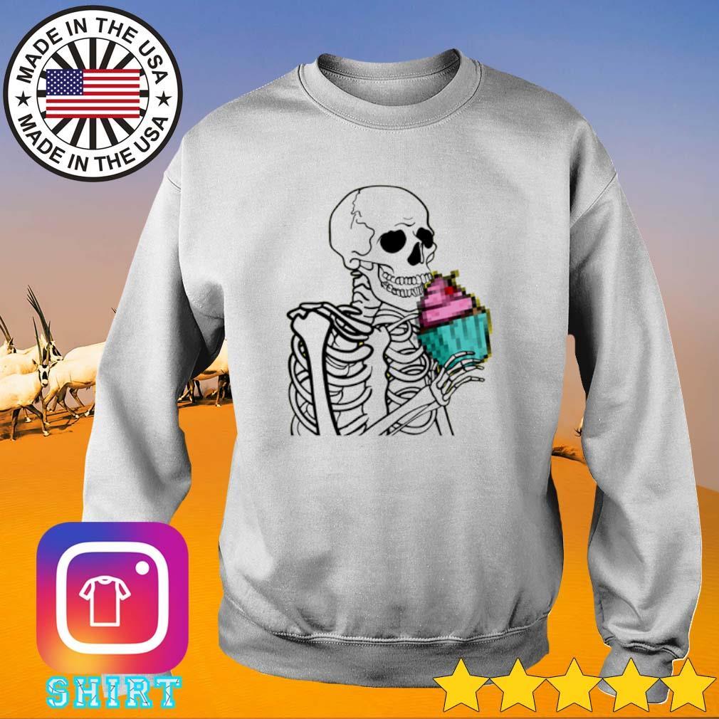 Skeleton cupcake Sweater