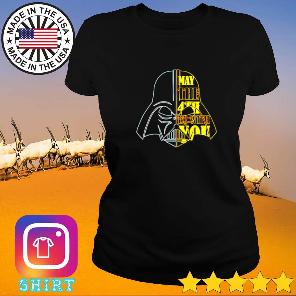Star Wars Darth Vader head may the 4th be with you Ladies tee