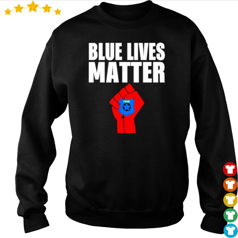 Strong hand Police blue lives matter s sweater