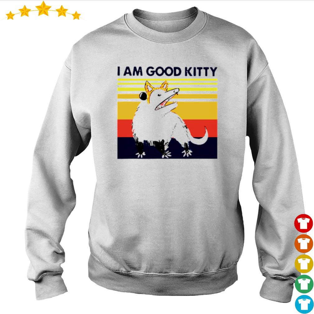 Vintage Opossum I am good kitty s Sweater