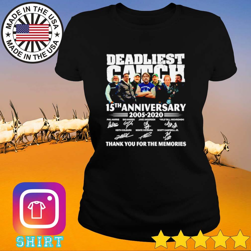 15 Years of Deadliest Catch 2005-2020 thank you for the memories s Ladies Tee black