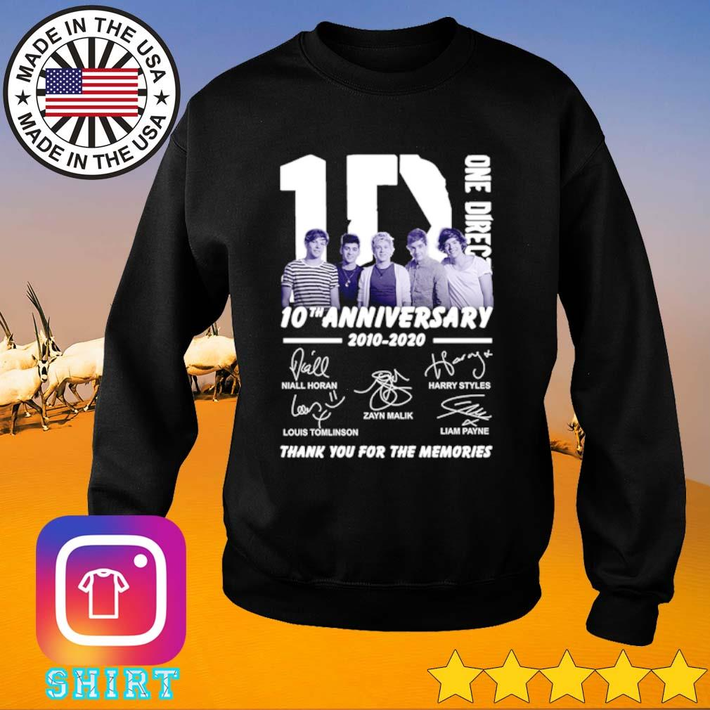 1D One Direction 10th Anniversary 2010-2020 all members signatures s Sweater black