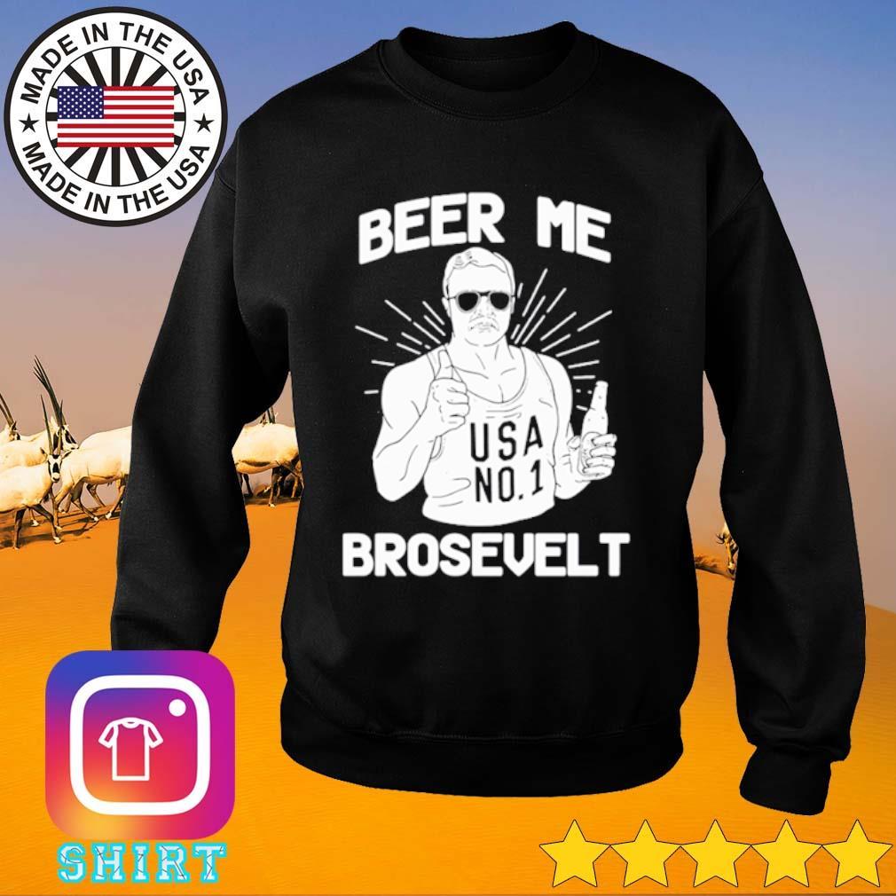 Beer me Brosevelt USA No1 s Sweater black