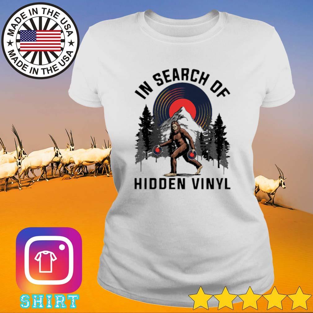 Bigfoot in search of hidden Vinyl s Ladies Tee White