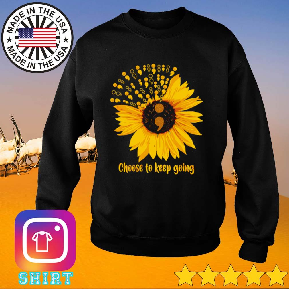 Choose to keep going Sunflower s Sweater black