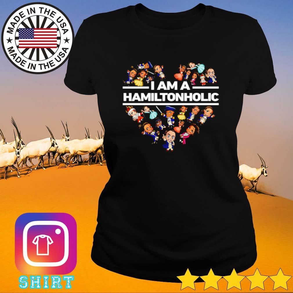 Heart I am a Hamilton holic s Ladies Tee black