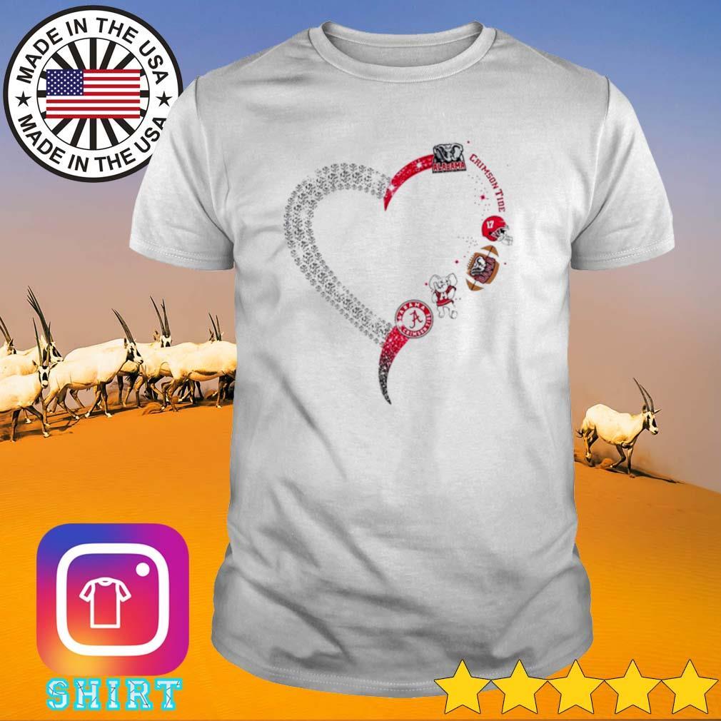 Heart love Alabama Crimson Tide shirt