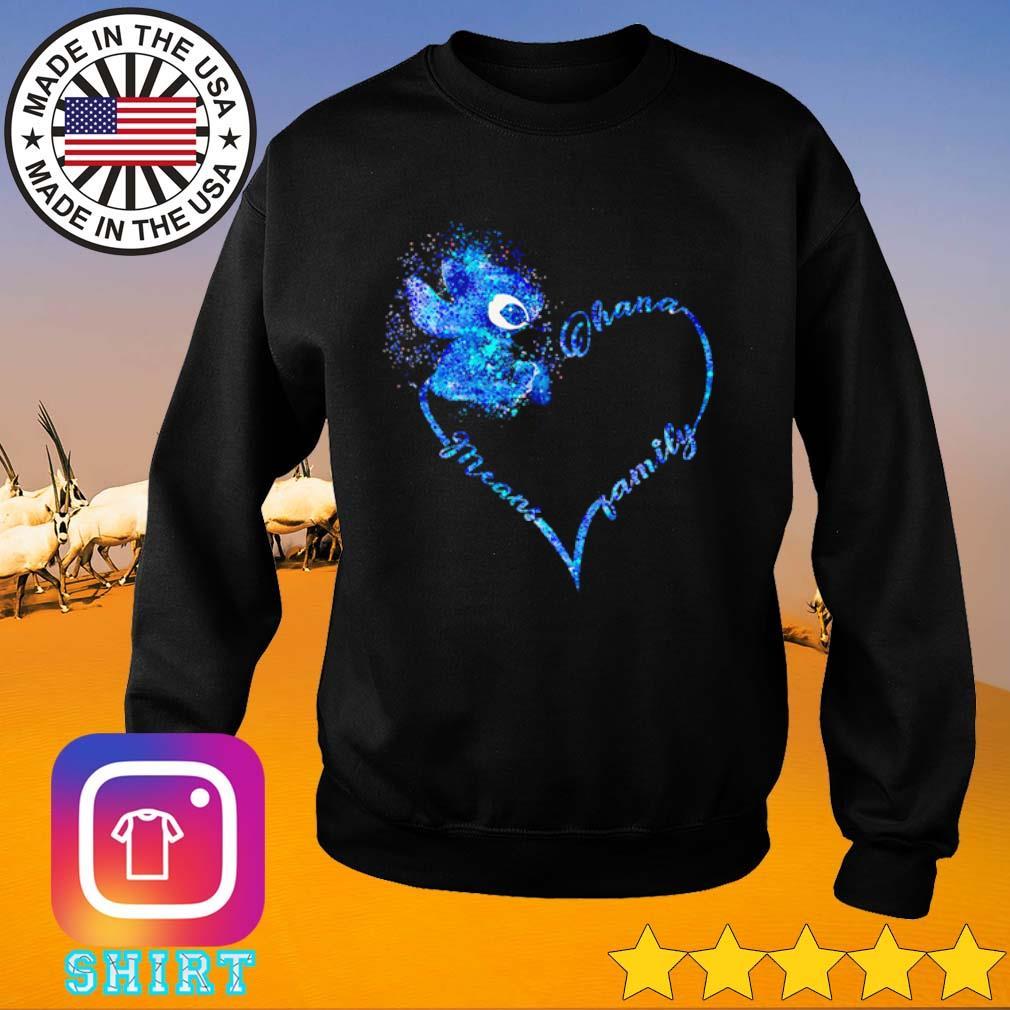 Heart Stitch Ohana means family s Sweater black