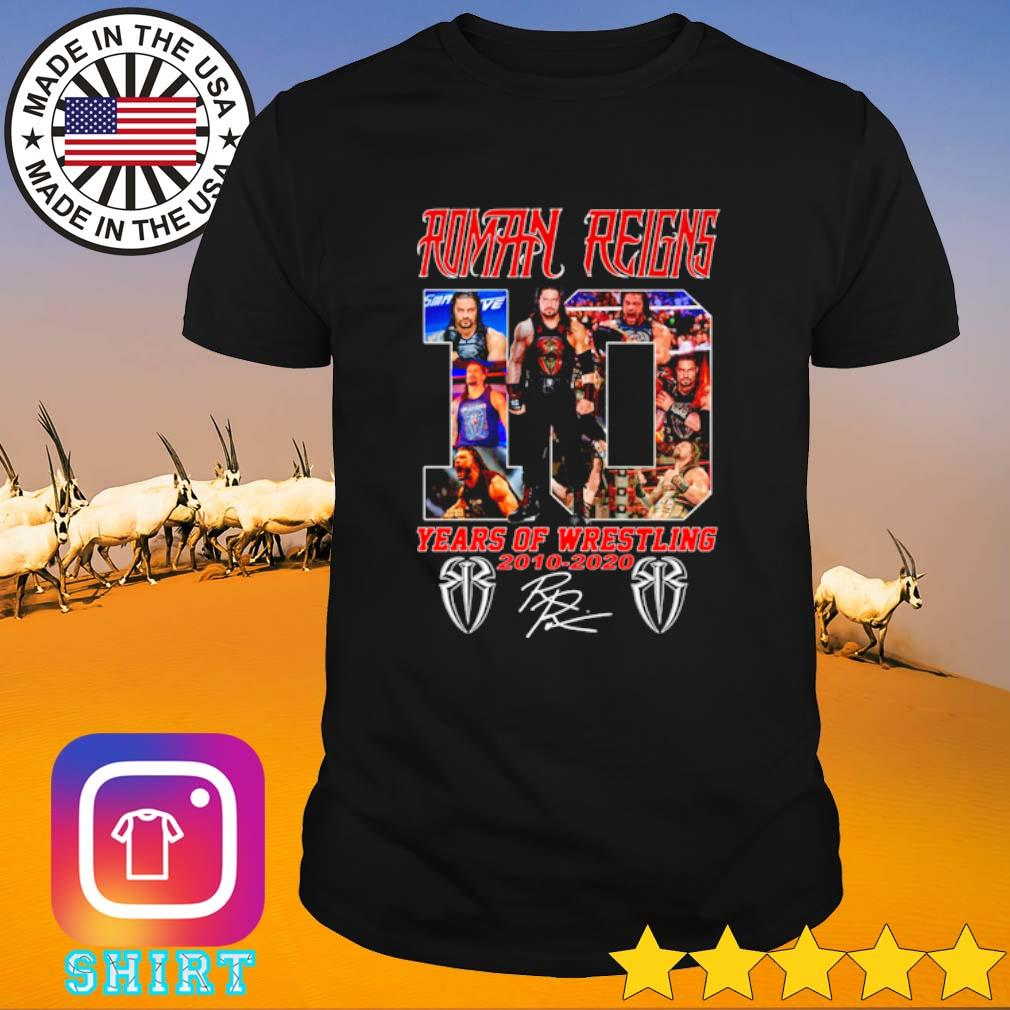 Roman Reigns 10 years of Wrestling 2010-2020 signature shirt