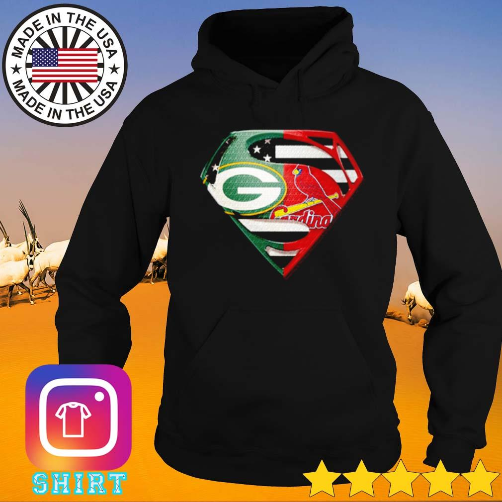Superman Green Bay Packers and St. Louis Cardinals s Hoodie black
