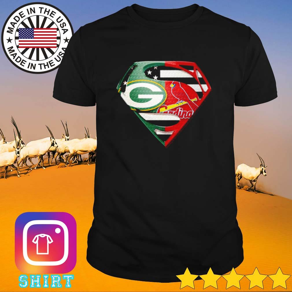 Superman Green Bay Packers and St. Louis Cardinals shirt