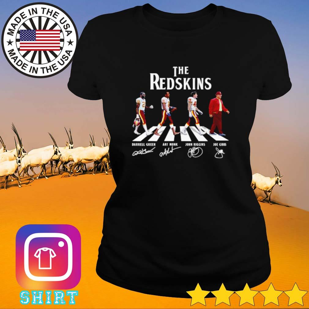 The Washington Redskins Abbey Road team players signatures s Ladies Tee black