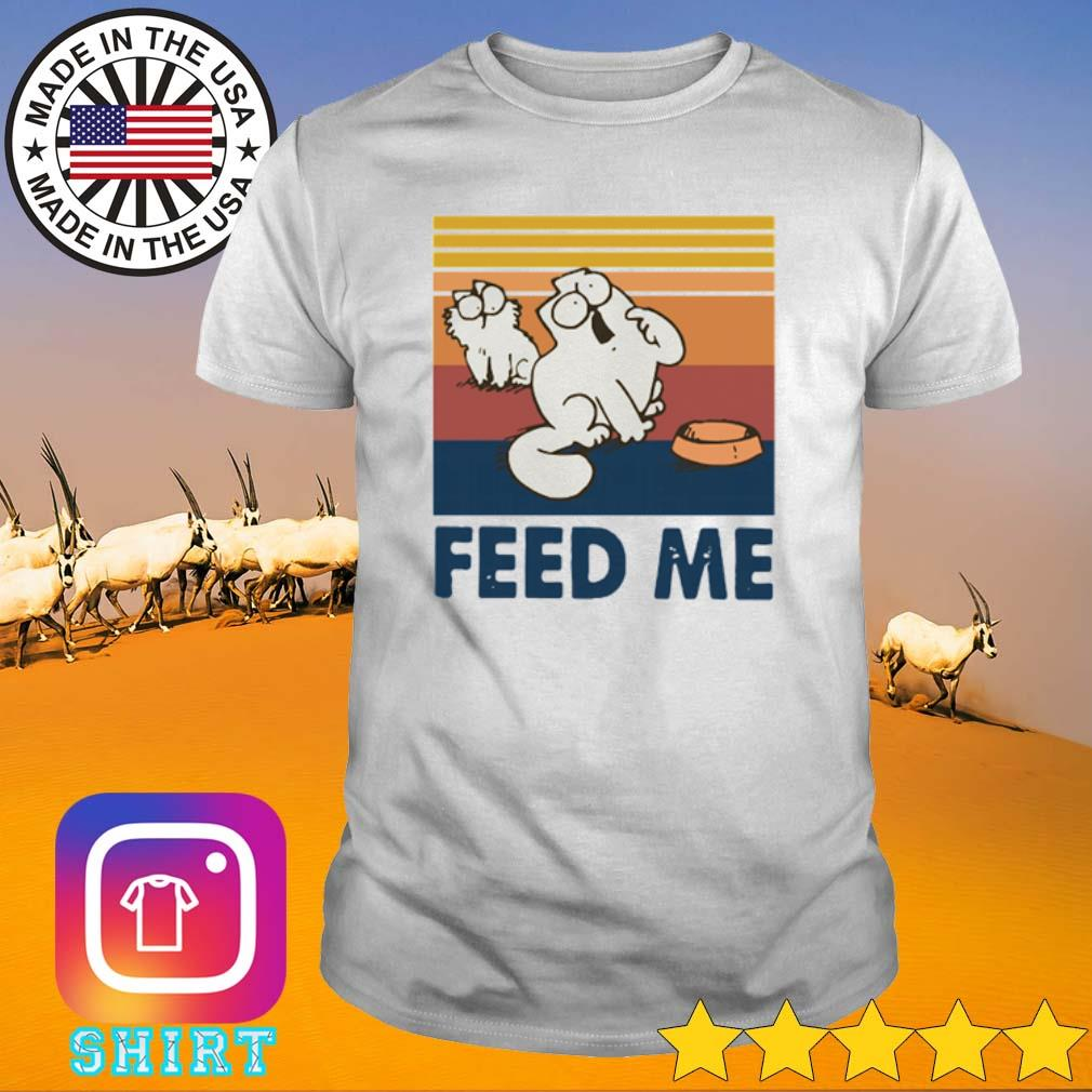 Vintage Simon's cat feed me shirt