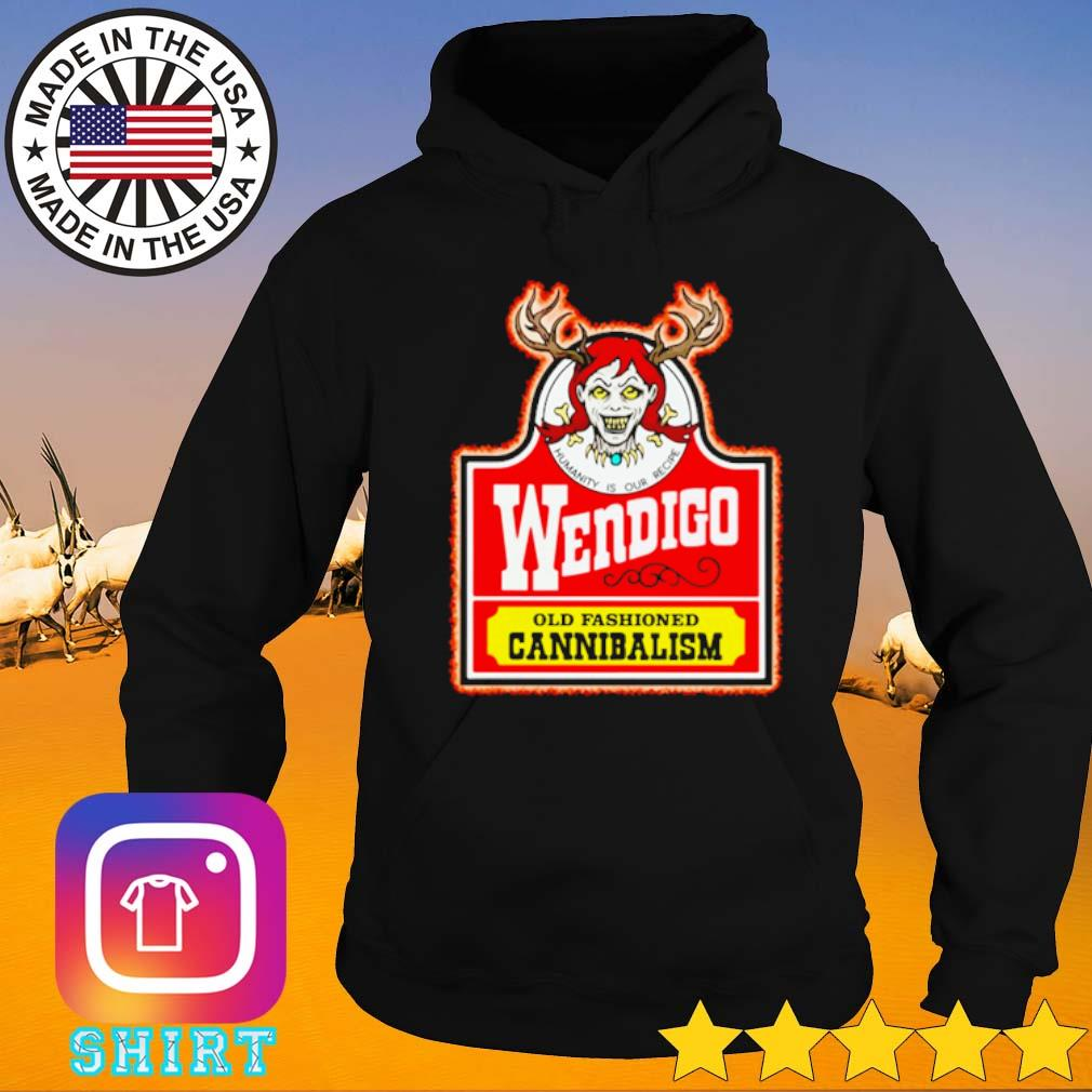 Wendigo old fashioned Cannibalism s Hoodie black