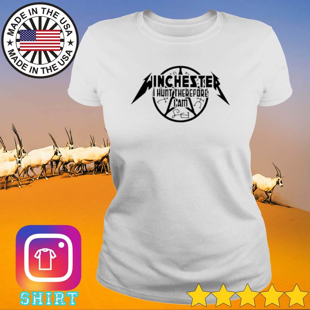 Winchester I hunt therefore I am s Ladies Tee White